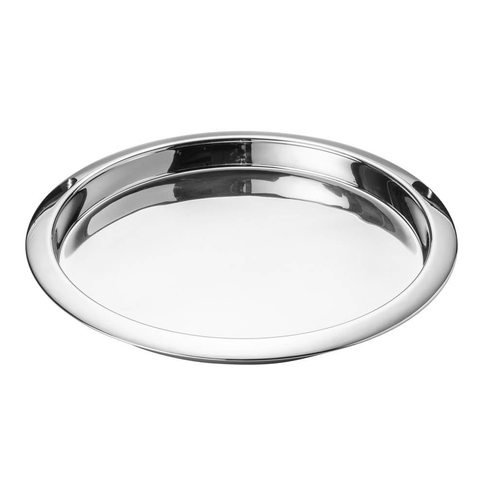 Bandeja Round em Aço Inox - Lyor Classic - 39x5 cm