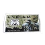 Bandeja US Route 66 Pequena em MDF e Fundo de Vidro - 32x20 cm