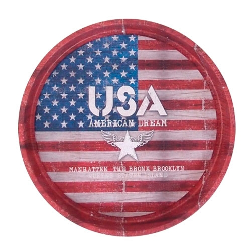 Bandeja USA American Dream em Metal - 33x4 cm