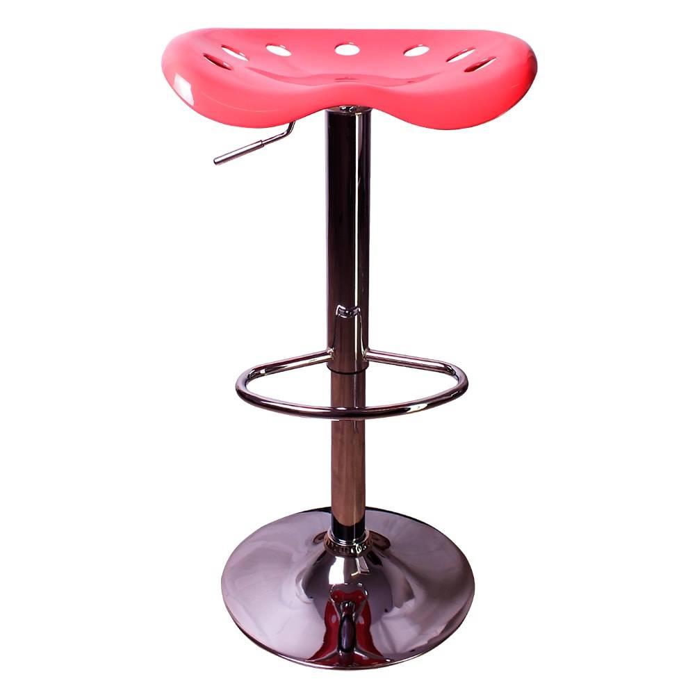 Banqueta Butterfly Rosa em ABS com Regulagem de Altura - 80x44 cm