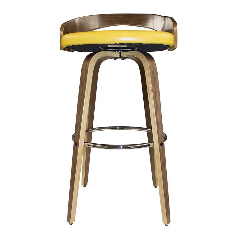 Banqueta Slim com Acento Vergado Amarelo Fullway - 94x47,5 cm