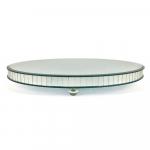 Base Espelhada Redonda para Exposição Baixa Grande em Vidro - Prestige - 40x5 cm