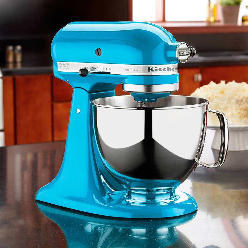 Batedeira Stand Mixer KitchenAid Artisan Crystal Blue 4,83 Litros - 127V - KEA33CW - 35,8x35,3 cm