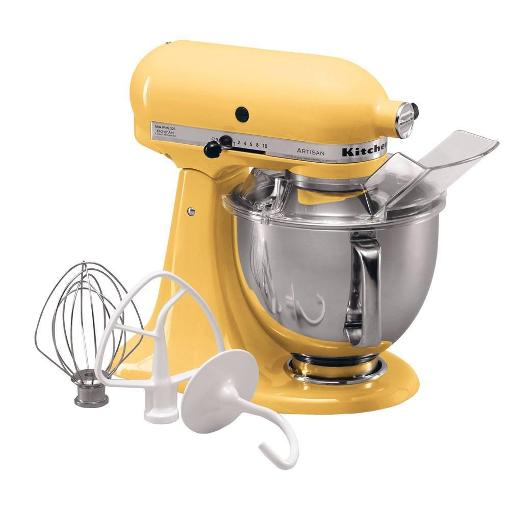 Batedeira Stand Mixer KitchenAid Artisan Majestic Yellow 4,83 Litros - 127V - KEA33CY - 35,8x35,3 cm