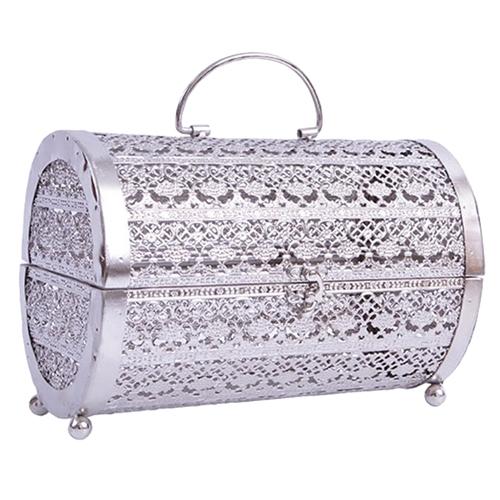 Baú Decorativo Bali Grande em Metal - 27x17 cm