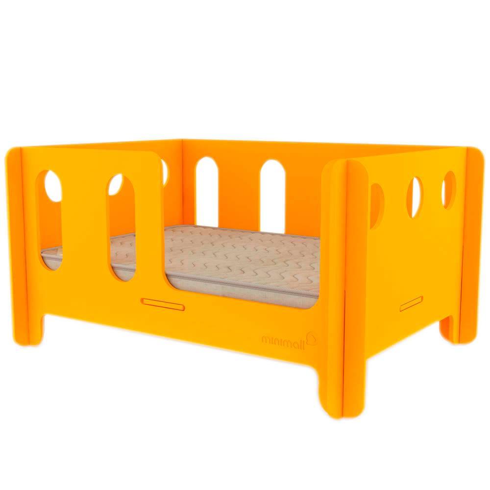 Berço para Pet BabyNap Amarelo Pequeno em MDF - 58x43 cm