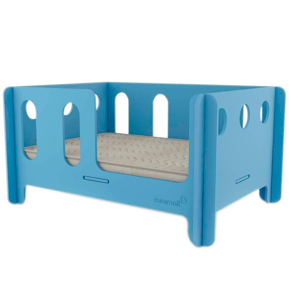 Berço para Pet BabyNap Azul Médio em MDF - 79x59 cm