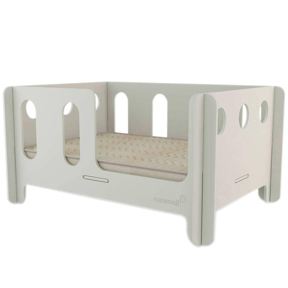 Berço para Pet Babynap Cinza Grande em MDF - 112x82 cm