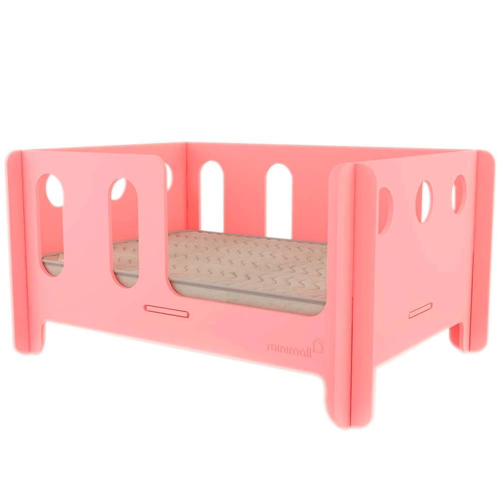Berço para Pet Babynap Rosa Grande em MDF - 112x82 cm