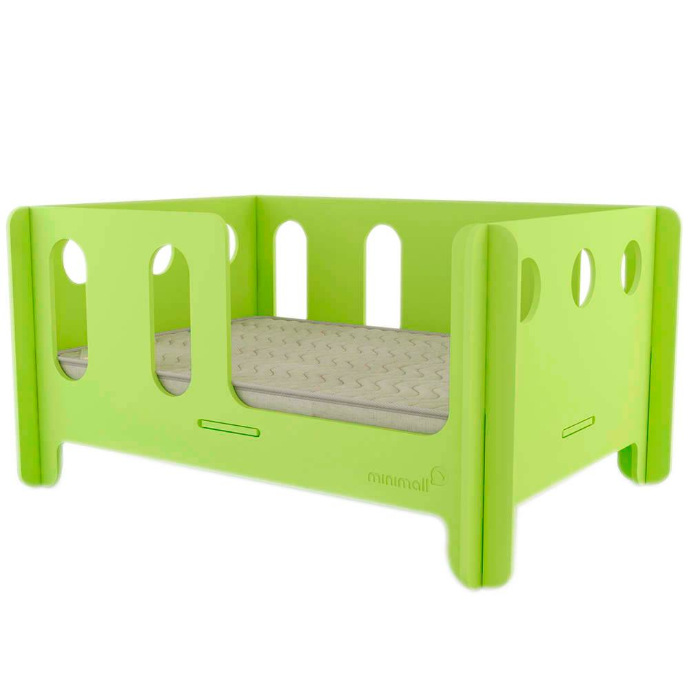 Berço para Pet BabyNap Verde Médio em MDF - 79x59 cm