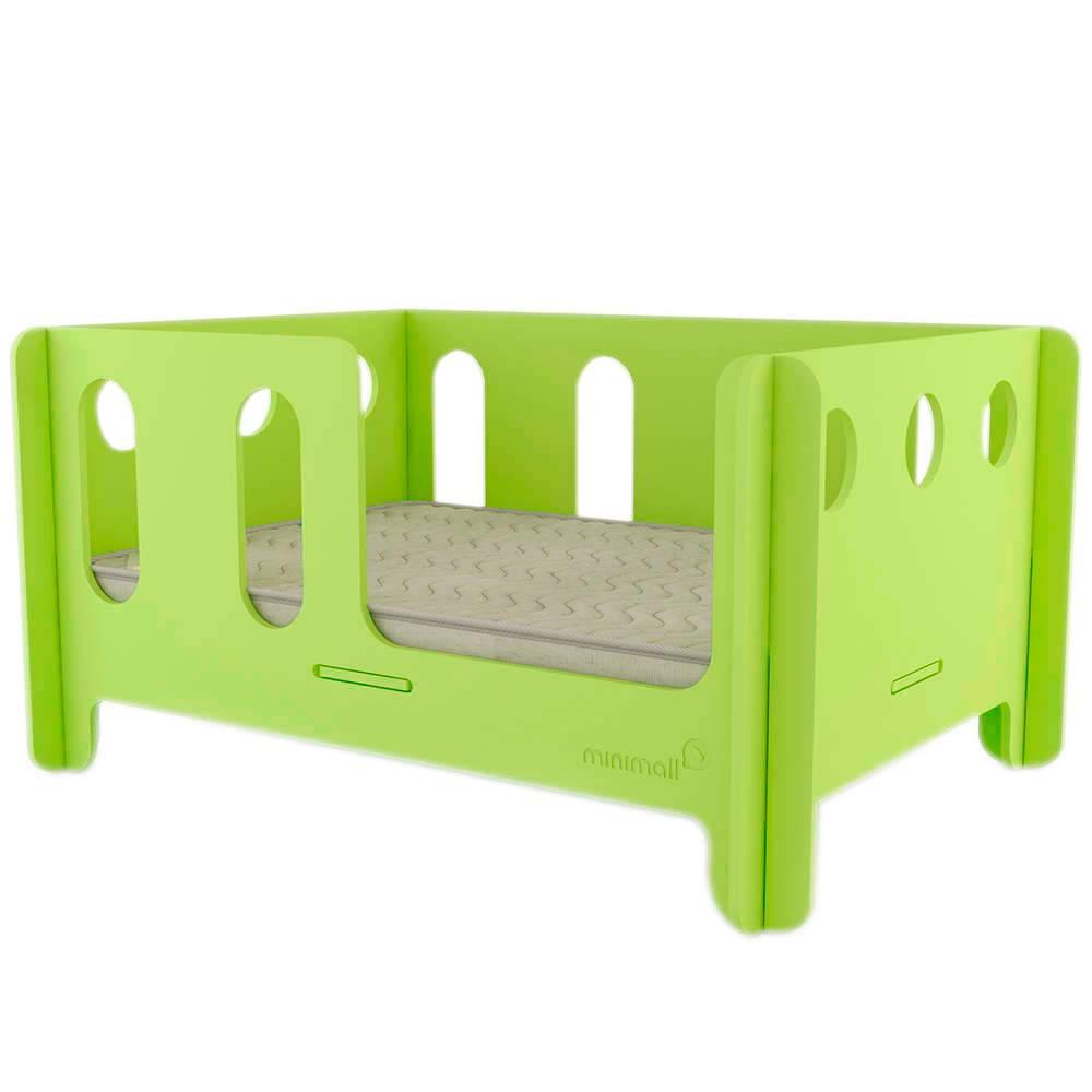 Berço para Pet BabyNap Verde Pequeno em MDF - 58x43 cm