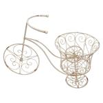 Bicicleta Decorativa Garden Bege em Metal - 63x44 cm