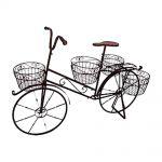 Bicicleta Decorativa para Jardim com 4 Cestos em Ferro