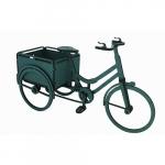 Bicicleta floreira azul