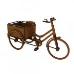 Bicicleta floreira madeira clara