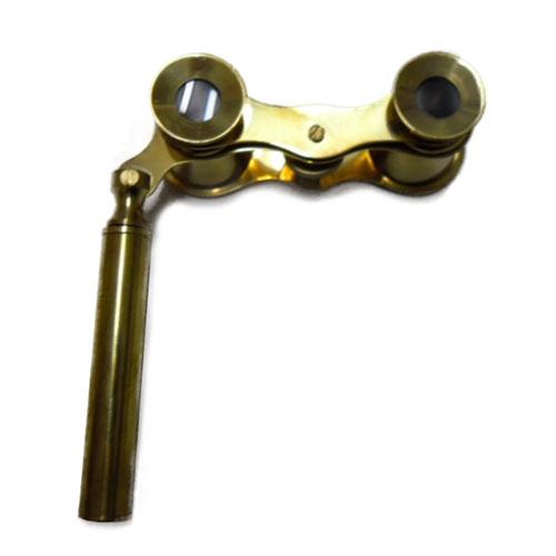 Binóculo Decorativo Dourado em Metal - 10,5x4 cm