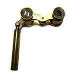 Binóculo Decorativo Dourado em Metal