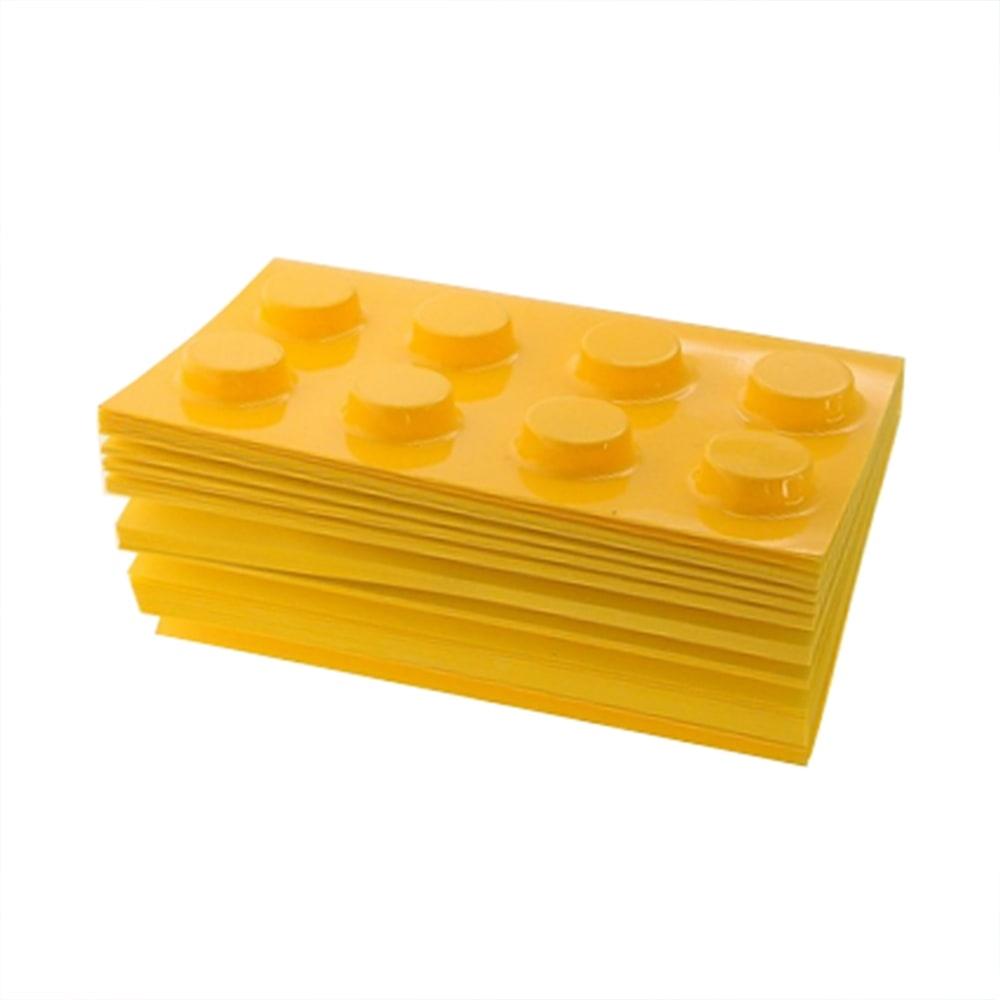 Bloco de Anotações - 300 Páginas - Lego Amarelo - 11x8 cm