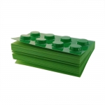 Bloco de Anotações - 300 Páginas - Lego Verde - 11x8 cm