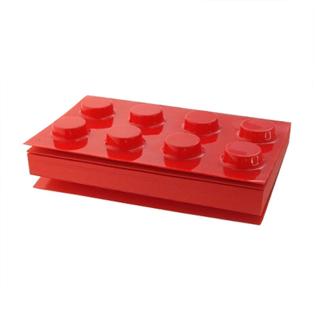 Bloco de Anotações - 300 Páginas - Lego Vermelho - 11x8 cm