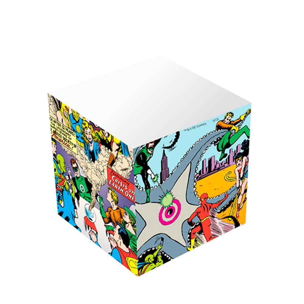Bloco de Anotações Cubo DC Comics Justice League Big Fight Colorido - Urban - 8x8 cm