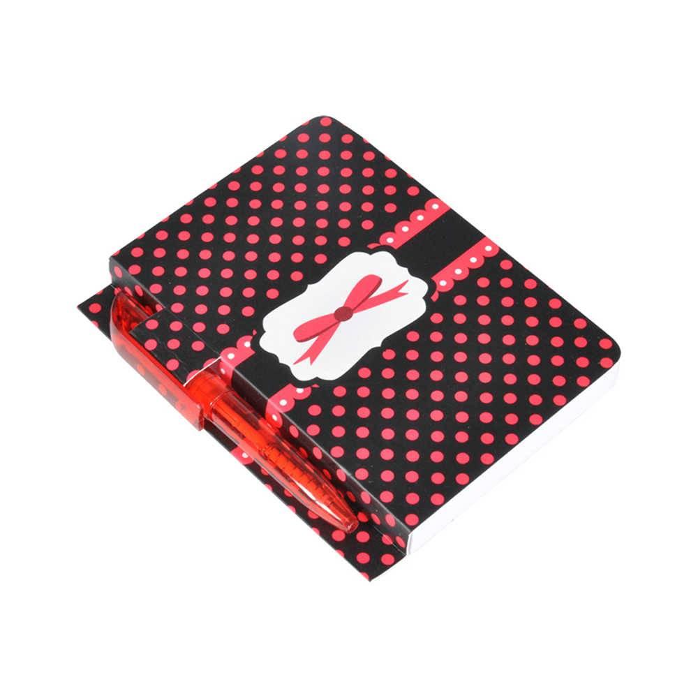 Bloco de Anotações Laço Vermelho com 100 Folhas e Mini Caneta - Urban - 27x26 cm