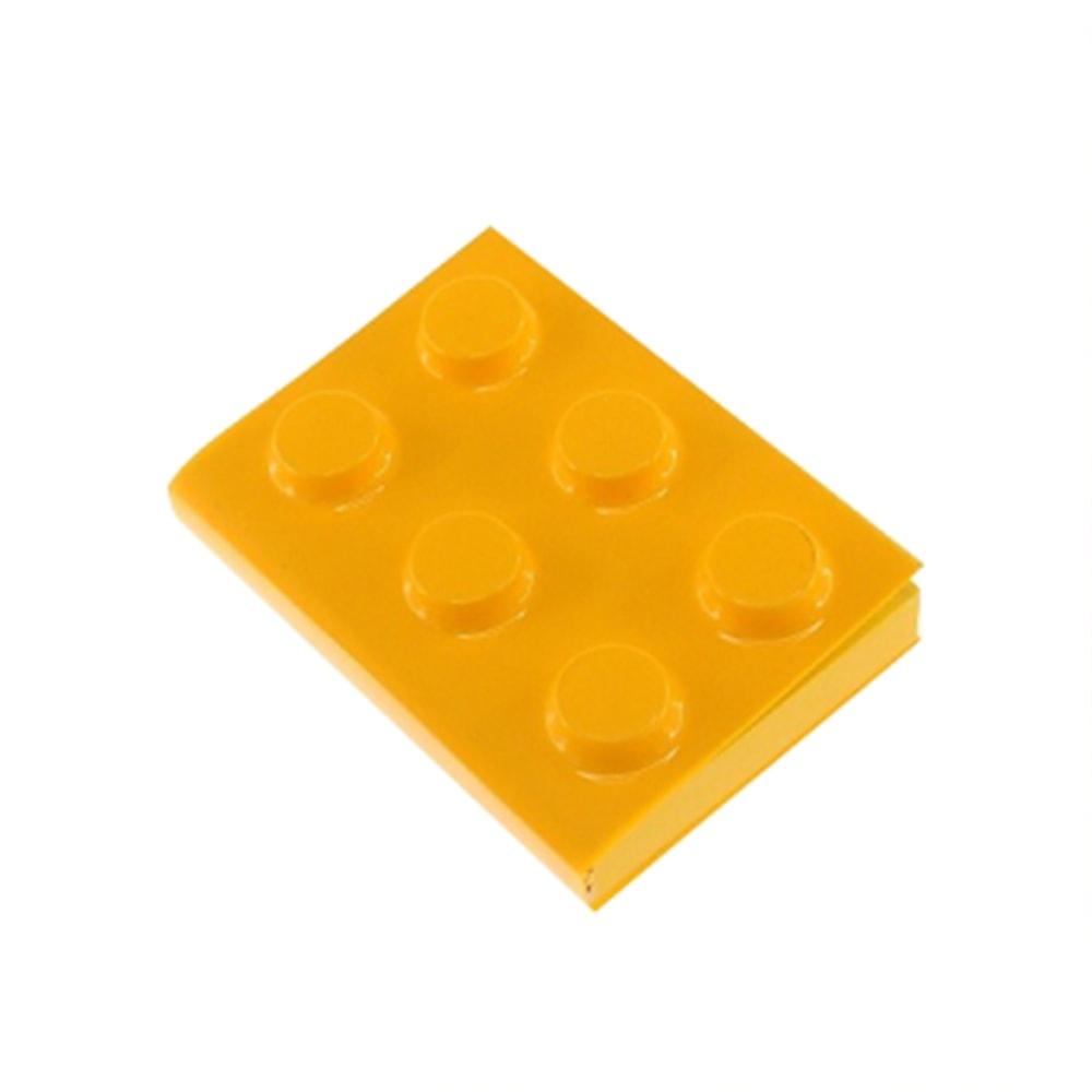 Bloco de Anotações Lego Amarelo Retangular - 12x8 cm