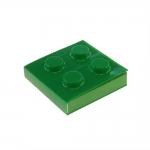 Bloco de Anotações Lego Verde Quadrado - 8x8 cm