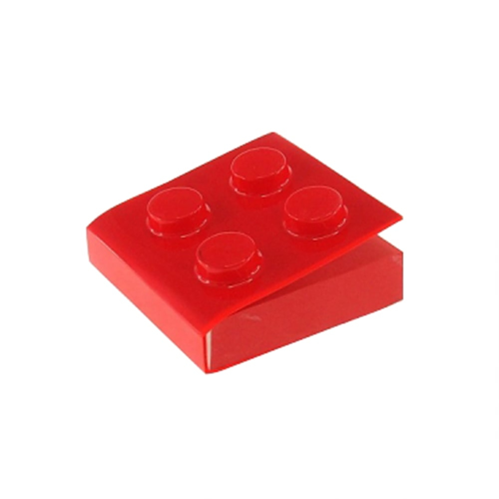 Bloco de Anotações Lego Vermelho Quadrado - 8x8 cm