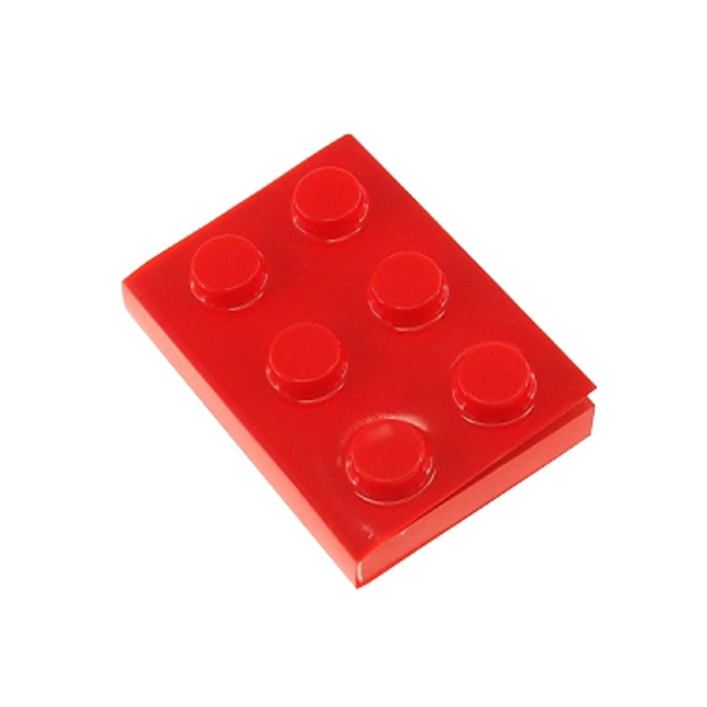 Bloco de Anotações Lego Vermelho Retangular - 12x8 cm