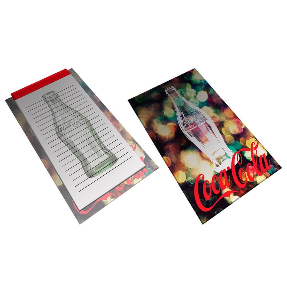 Bloco de Anotações com Prancheta Coca-Cola Light And Bright Bottle - Urban - 22x15,5 cm