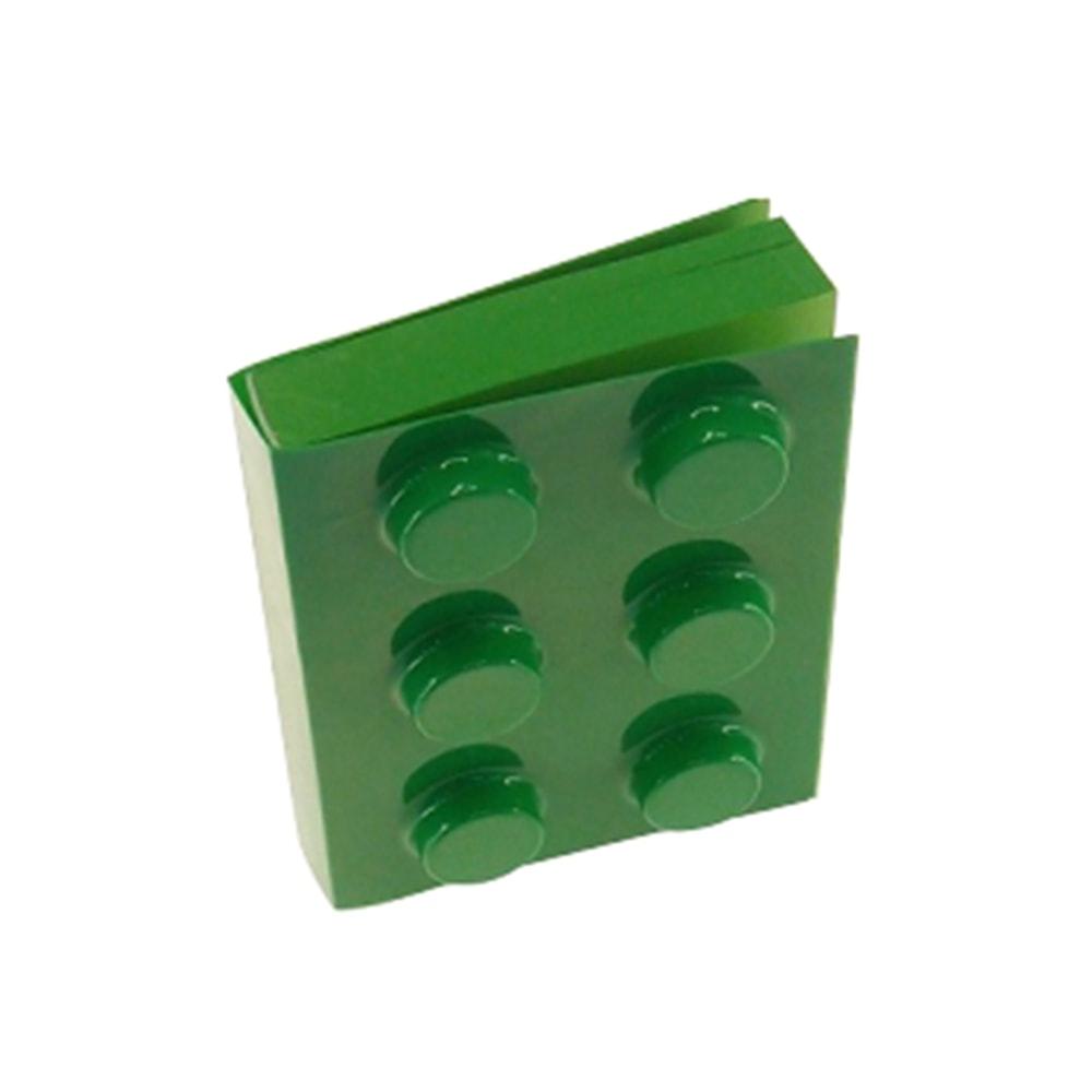 Bloco de Anotações Verde Retangular - 12x8 cm