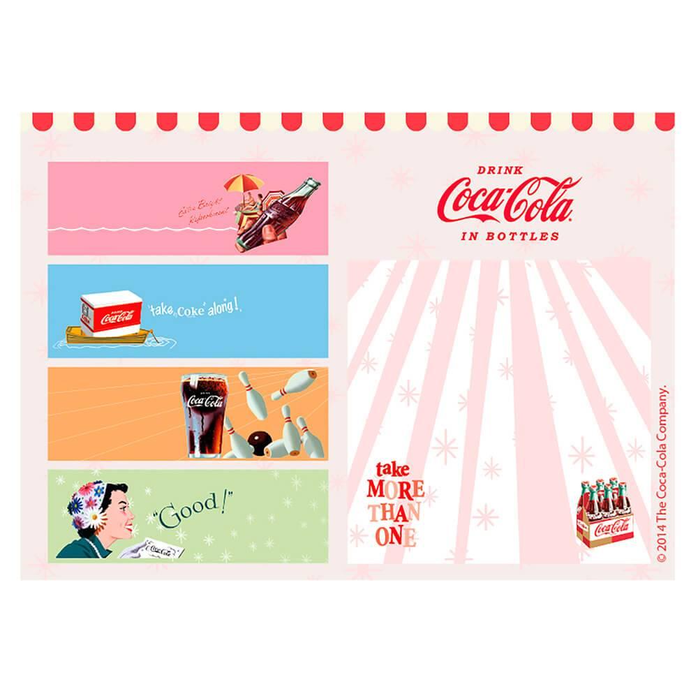 Bloco de Notas com Adesivo Coca-Cola All Kinds of Vintages Colorido - Urban - 14x10 cm