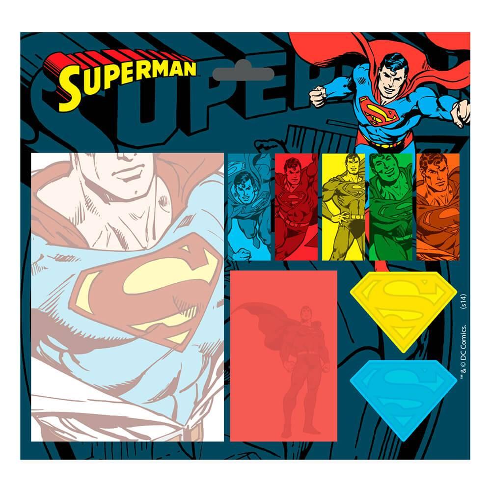 Bloco de Notas Adesivo DC Comics All Kinds of Superman Colorido - Urban - 20x13,5 cm