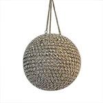 Bola Decorativa Dourada em Metal com Pedrarias Média - 29 cm