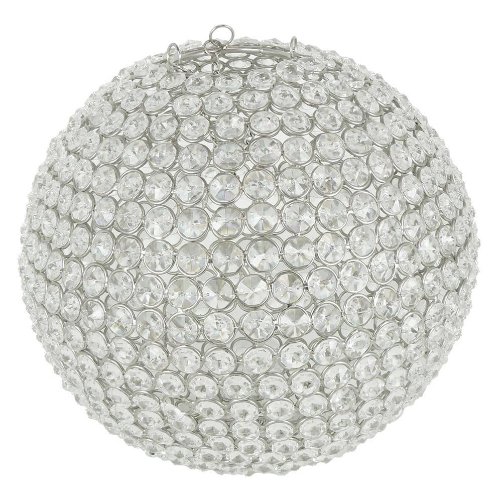 Bola de Cristal Decorativa Pequena com Estrutura em Metal - 26 cm