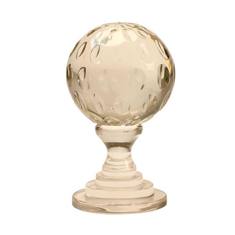 Bola Decorativa Circles com Base em Vidro - 18x9 cm