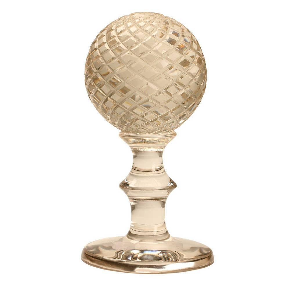Bola Decorativa Reikki com Base em Vidro - 24x13 cm