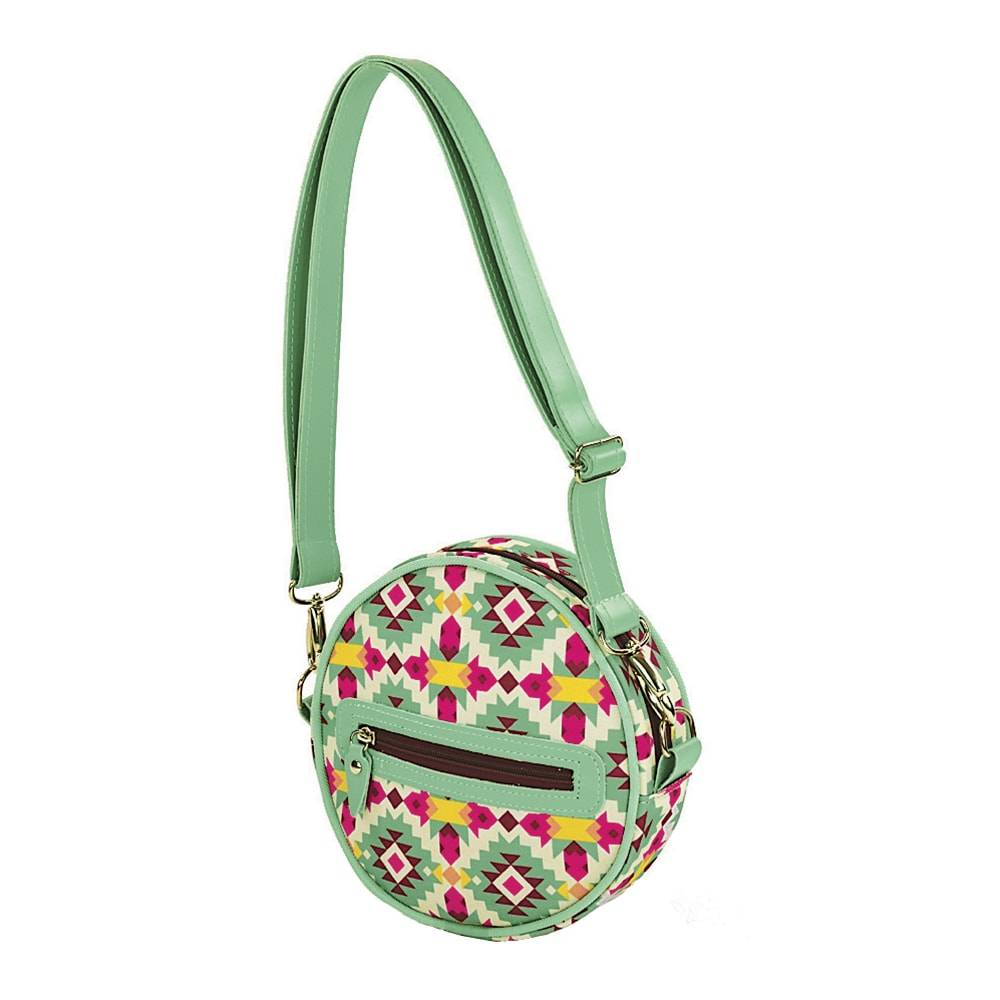 Bolsa Balada Redonda Frida - Carpe Diem - em Couro Sintético - 20x6cm