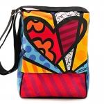 Bolsa Mensageiro New Day - Romero Britto - em Poliester - 40x30 cm