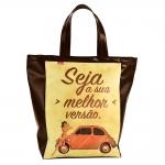 Bolsa Book Bag Pinup 500 - Carpe Diem - em Couro Sintético