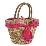 Bolsa Pink com Acabamento de Tecido - com Alças - em Fibra