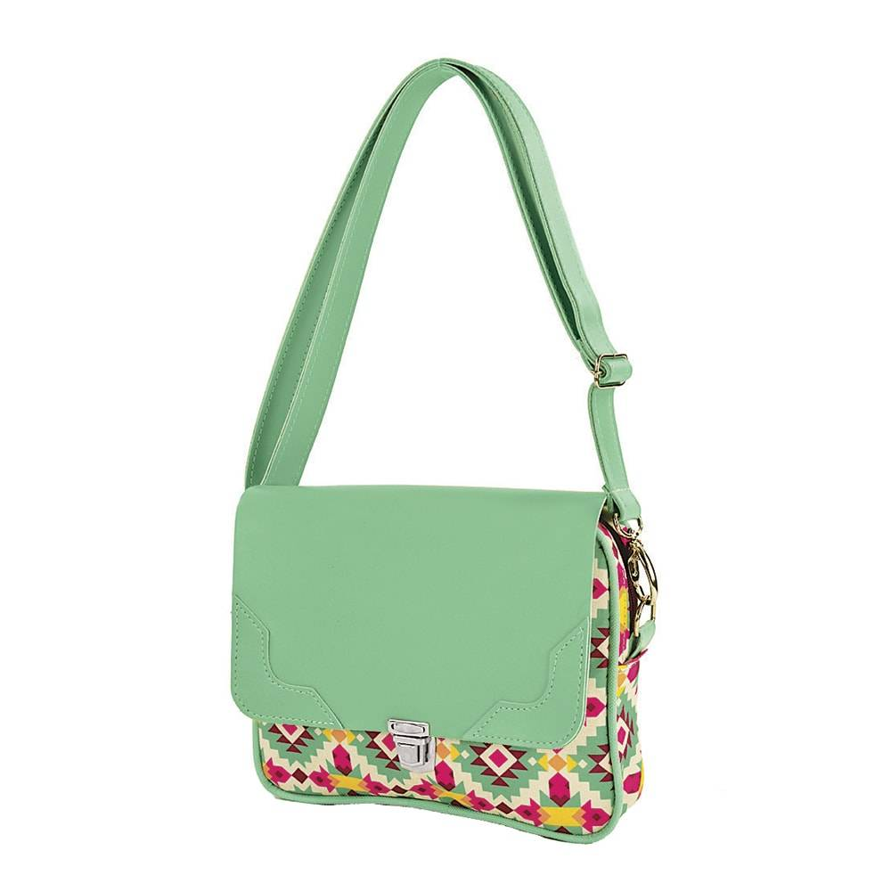 Bolsa Retrô Frida - Carpe Diem - Verde em Couro Sintético - 24x20 cm
