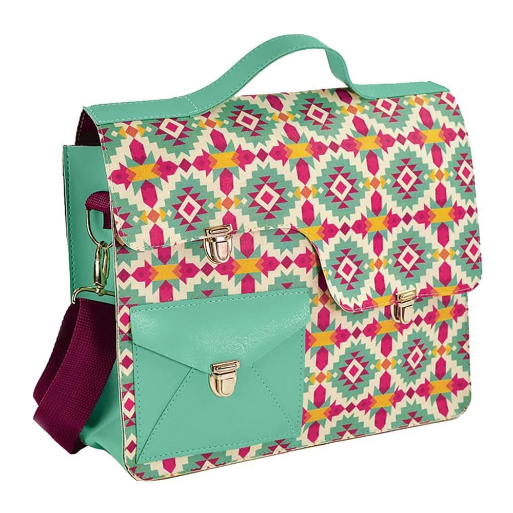Bolsa Work Bag Frida - Carpe Diem - Verde em Couro Sintético - 35,5x27 cm