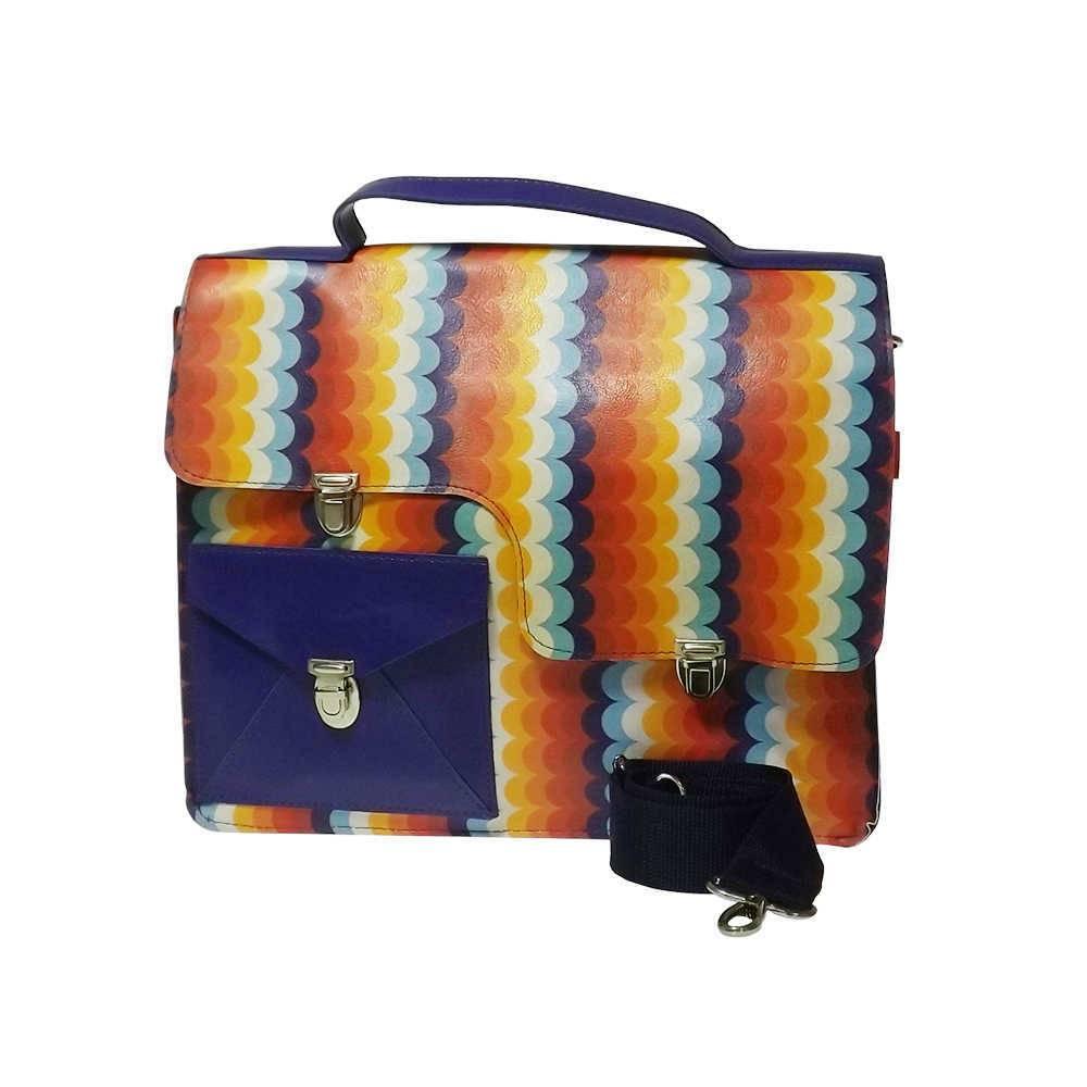 Bolsa Work Bag Make Love - Carpe Diem - Colorida em Couro Sintético - 35,5x27 cm