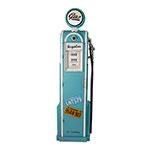 Bomba de Gasolina - Porta CDs - Azul c/ Placa Iluminada Oldway - 180x50 cm