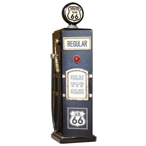 Bomba Gasolina Preta Porta CD Route 66 Oldway - 83x23x19cm