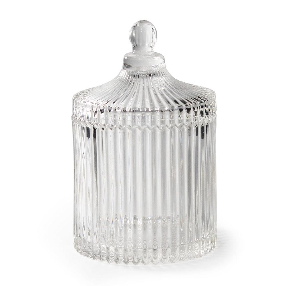 Bomboniere Carrous Pequeno em Vidro Transparente - 16x10,5 cm