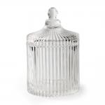 Bomboniere Carrous Pequeno em Vidro Transparente - 16x10 cm