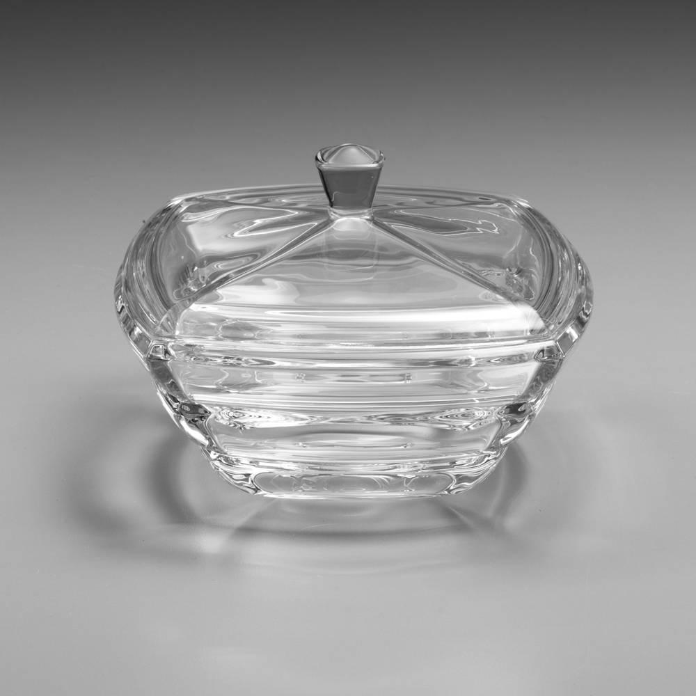 Baleiro Segment Transparente em Cristal - 20,5 cm